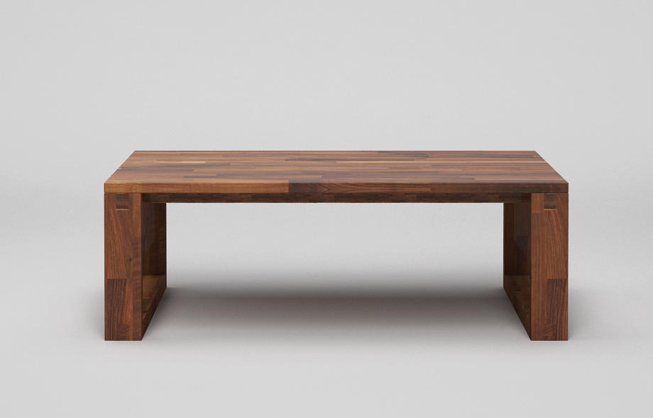 ct60 couchtisch aus nussbaum massiv mit kufen von frohraum. Black Bedroom Furniture Sets. Home Design Ideas