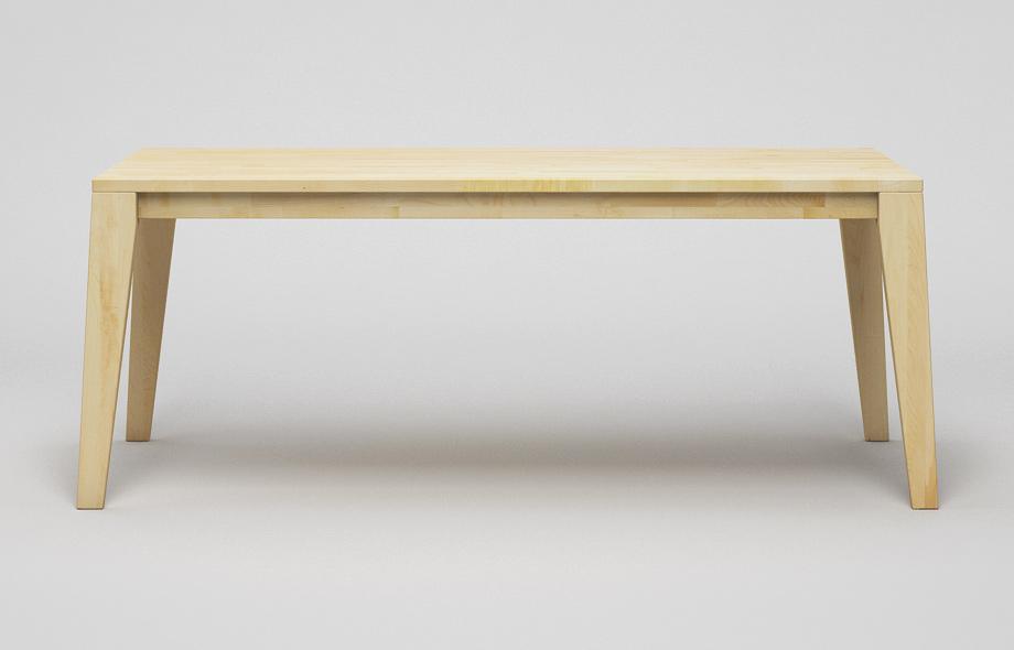 Et110 esstisch aus massivem ahorn von frohraum for Esstisch ahorn