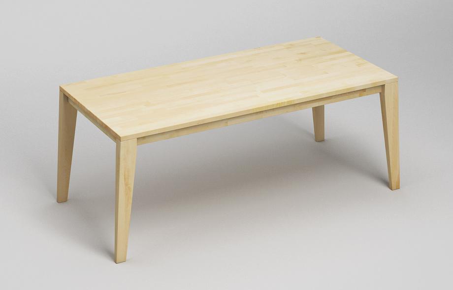 et110 esstisch aus massivem ahorn von frohraum. Black Bedroom Furniture Sets. Home Design Ideas