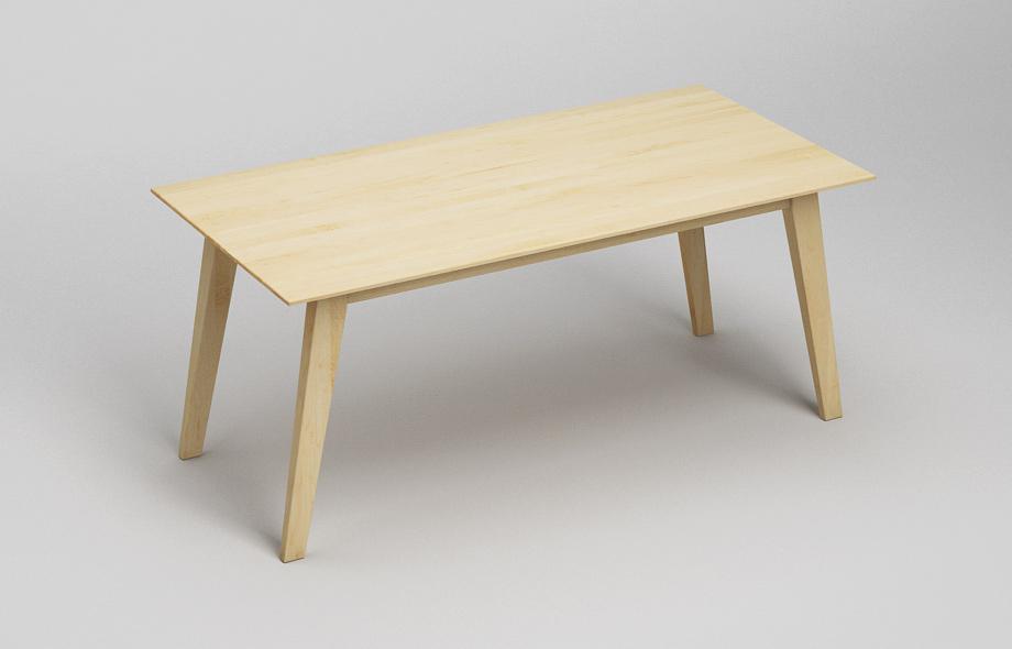 et122 esstisch aus ahorn massivholz von frohraum. Black Bedroom Furniture Sets. Home Design Ideas