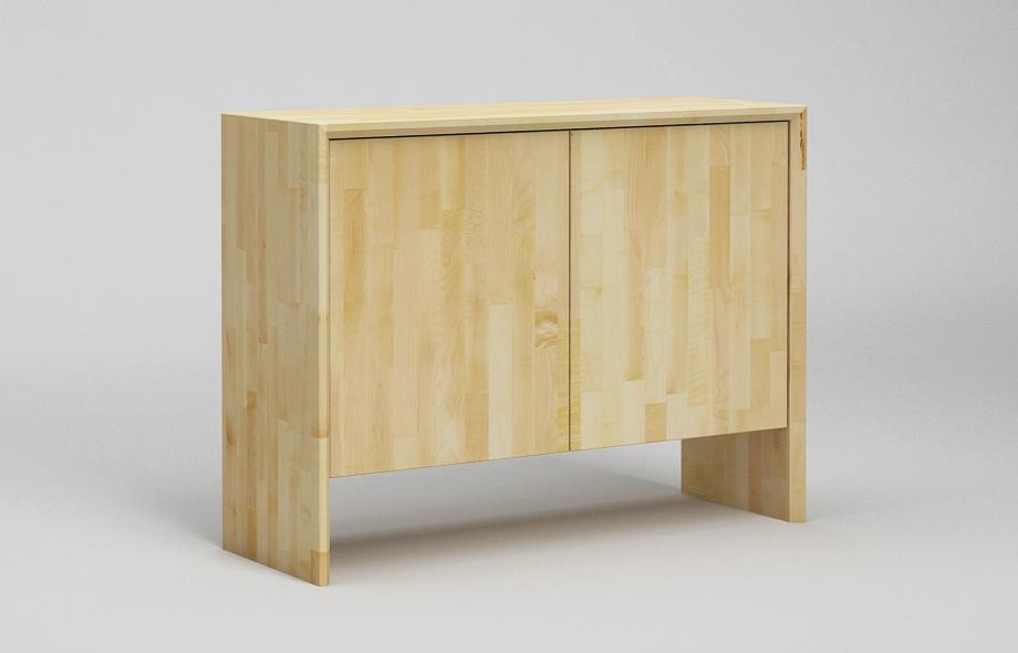 s302 sideboard ahorn massiv zweispaltiges wangenboard von frohraum. Black Bedroom Furniture Sets. Home Design Ideas