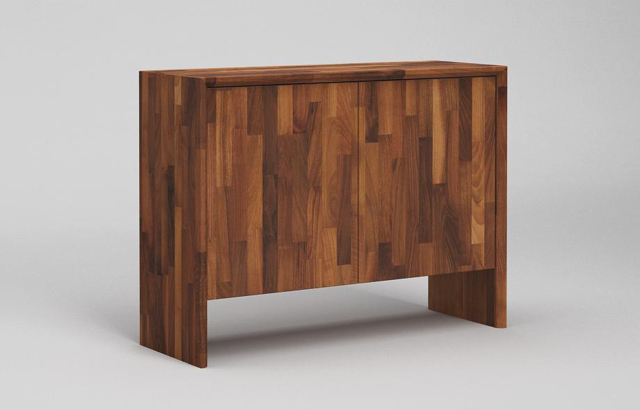 s302 sideboard nussbaum massiv zweispaltiges wangenboard. Black Bedroom Furniture Sets. Home Design Ideas
