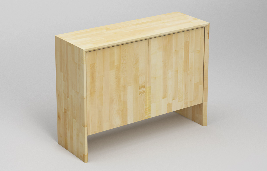 s302 sideboard ahorn massiv zweispaltiges wangenboard. Black Bedroom Furniture Sets. Home Design Ideas