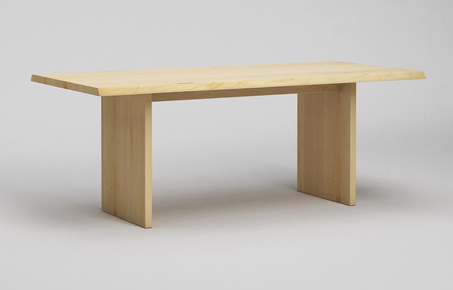 Et32bk baumkantentisch aus ahorn massiv von frohraum for Esstisch ahorn