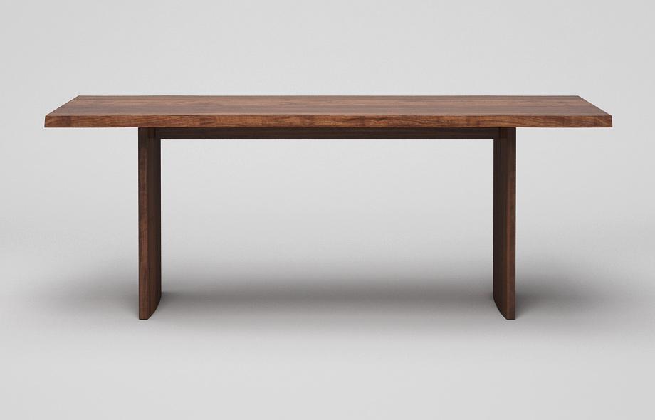ET33BK Baumkantentisch aus Nussbaum massiv von Frohraum