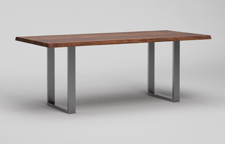 ET38BK Baumkantentisch aus Nussbaum massiv von Frohraum