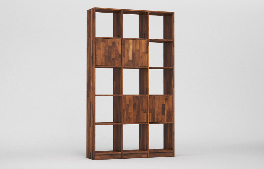 r101 regal nussbaum massiv von frohraum. Black Bedroom Furniture Sets. Home Design Ideas