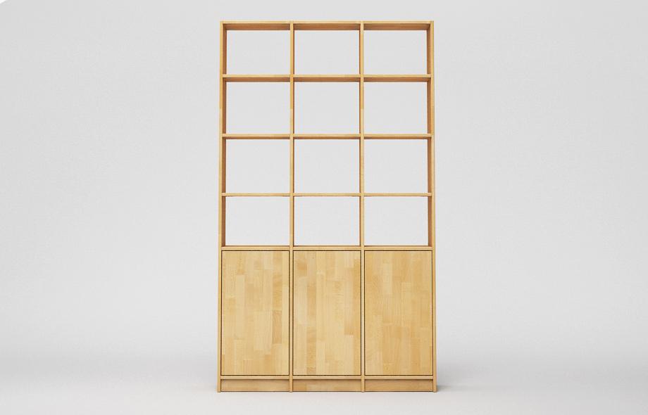 r103 gro es regal aus massivholz nach ma. Black Bedroom Furniture Sets. Home Design Ideas