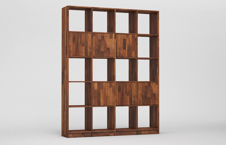 r106 regal nussbaum massiv von frohraum. Black Bedroom Furniture Sets. Home Design Ideas
