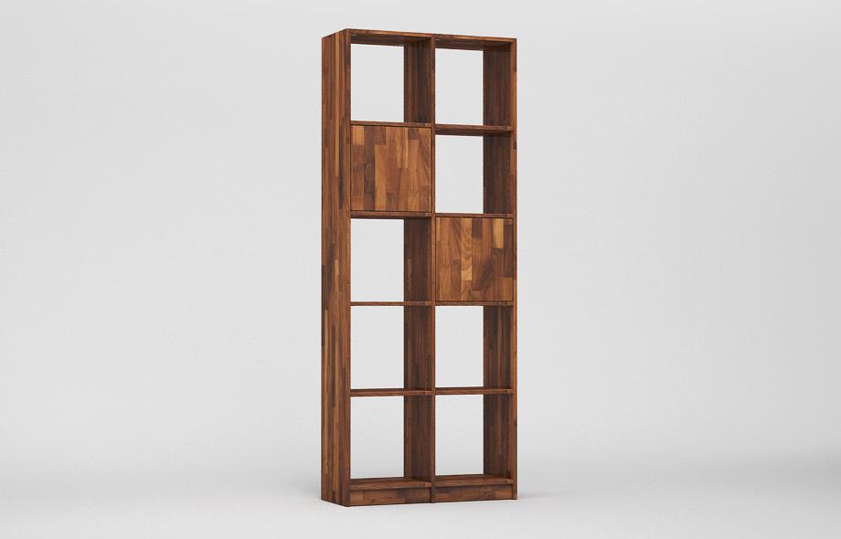 r107 regal nussbaum massiv von frohraum. Black Bedroom Furniture Sets. Home Design Ideas