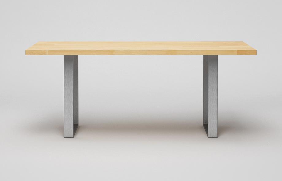 et38: esstisch aus massivholz mit stahlkufen, Esstisch ideennn