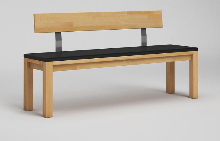 sb13l sitzbank massiv mit lehne. Black Bedroom Furniture Sets. Home Design Ideas