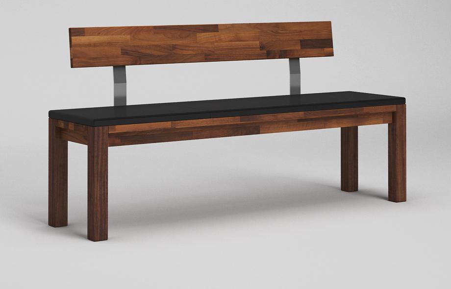 sb13l sitzbank nussbaum massiv. Black Bedroom Furniture Sets. Home Design Ideas