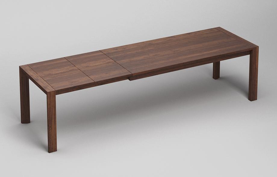 et53 ka ausziehtisch aus nussbaum massiv von frohraum. Black Bedroom Furniture Sets. Home Design Ideas