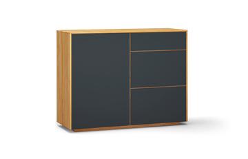 sideboard s502 farbglas RAL7016 a1w kernbuche