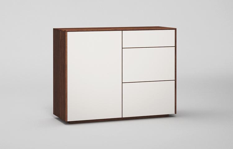 Sideboard-s502-farbglas-ral9010-a1-nussbaum
