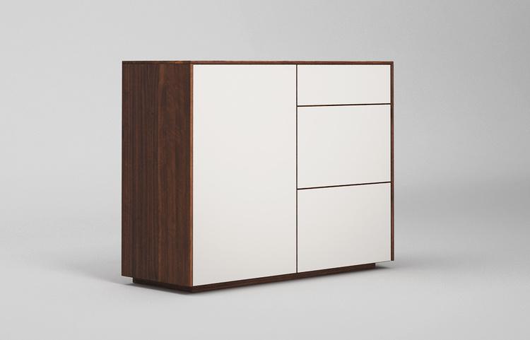 Sideboard-s502-farbglas-ral9010-a3-nussbaum