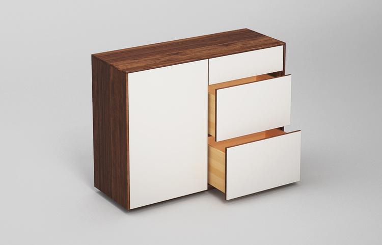 Sideboard-s502-farbglas-ral9010-a4-nussbaum