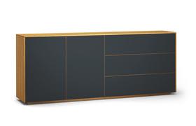 Sideboard-s503-farbglas-ral7016-a1w-eiche-dgl