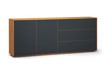 Sideboard-s503-farbglas-ral7016-a1w-kirschbaum-dgl