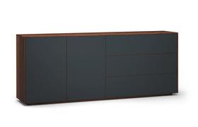 Sideboard-s503-farbglas-ral7016-a1w-nussbaum-dgl