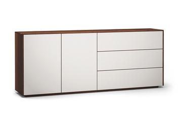 Sideboard-s503-farbglas-ral9010-a1w-nussbaum-dgl
