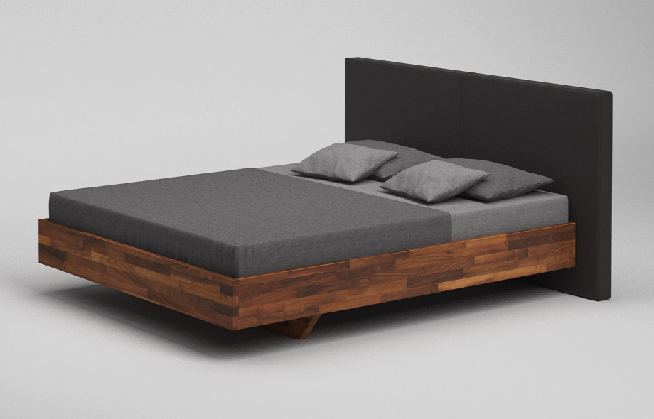 b35 pk bett nussbaum massiv schwebebett mit. Black Bedroom Furniture Sets. Home Design Ideas