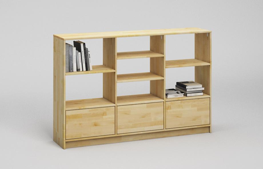 r201 regal aus ahorn massivholz von frohraum. Black Bedroom Furniture Sets. Home Design Ideas