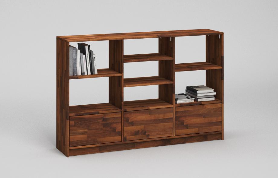r201 regal aus nussbaum massiv von frohraum. Black Bedroom Furniture Sets. Home Design Ideas
