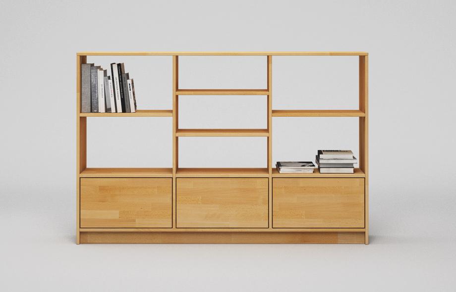 r201 regal aus buche massivholz von frohraum. Black Bedroom Furniture Sets. Home Design Ideas