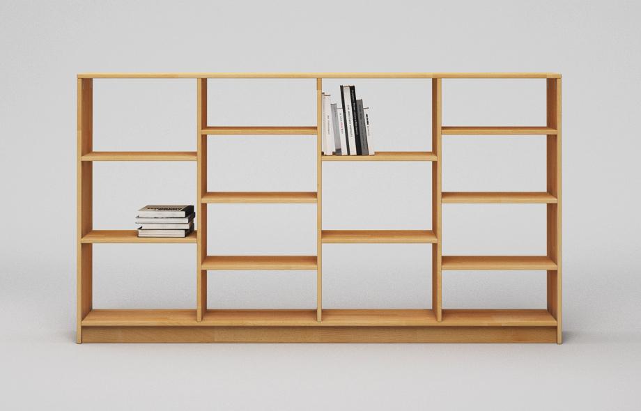 r202 regal aus buche massiv von frohraum. Black Bedroom Furniture Sets. Home Design Ideas