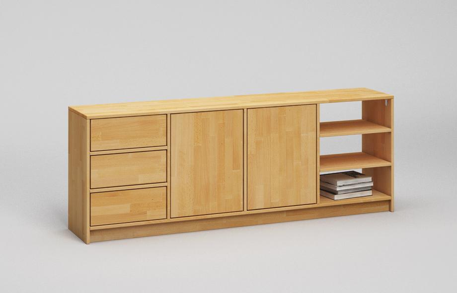 r205 traumhaftes regal nach ma aus massivholz von frohraum. Black Bedroom Furniture Sets. Home Design Ideas