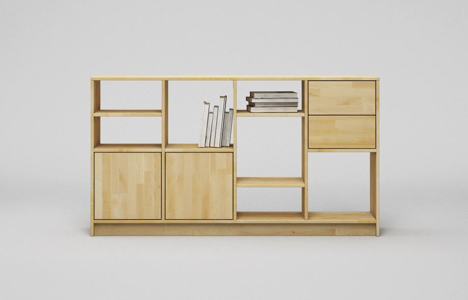 r203 regal aus ahorn massivholz von frohraum. Black Bedroom Furniture Sets. Home Design Ideas