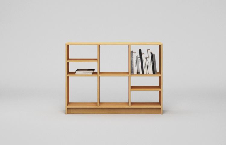 r206 regal aus buche massiv von frohraum. Black Bedroom Furniture Sets. Home Design Ideas