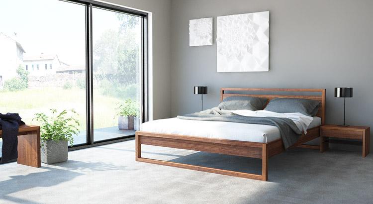 massivholzmöbel im schlafzimmer: betten und nachttische nach maß