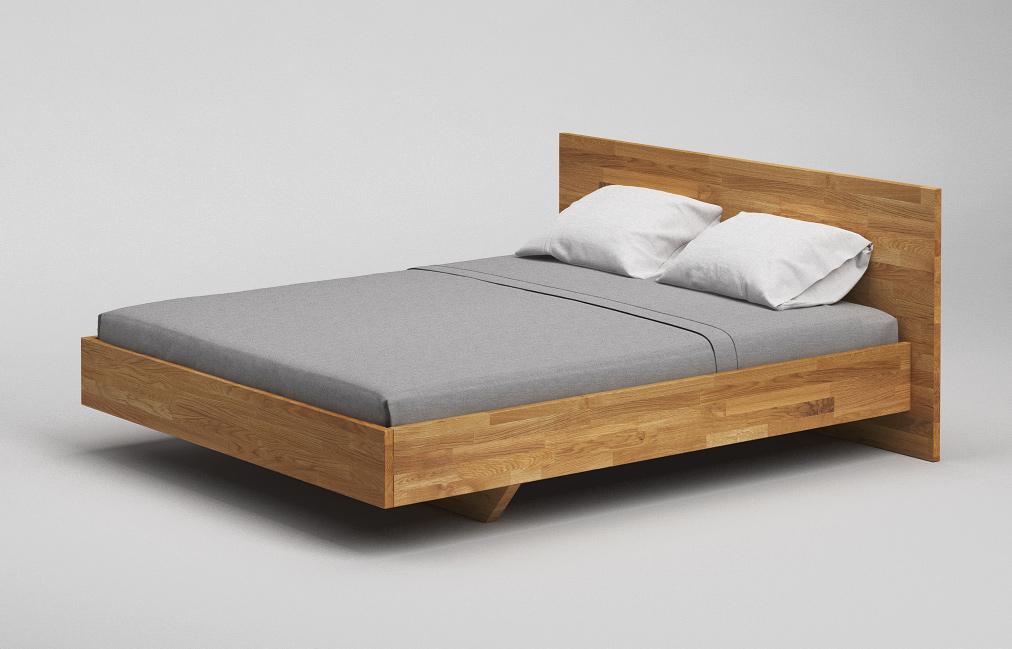 b35 bett eiche massiv schwebebett nach mass von frohraum. Black Bedroom Furniture Sets. Home Design Ideas
