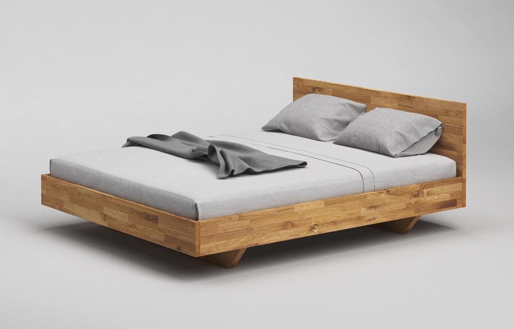 b34 bett wildeiche massiv minimalistisches schwebebett mit kopfteil von frohraum. Black Bedroom Furniture Sets. Home Design Ideas