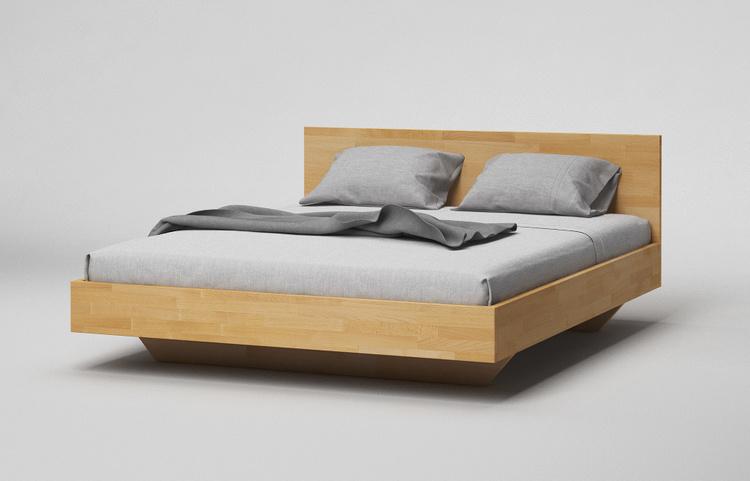 b34 bett buche massiv minimalistisches schwebebett mit kopfteil von frohraum. Black Bedroom Furniture Sets. Home Design Ideas