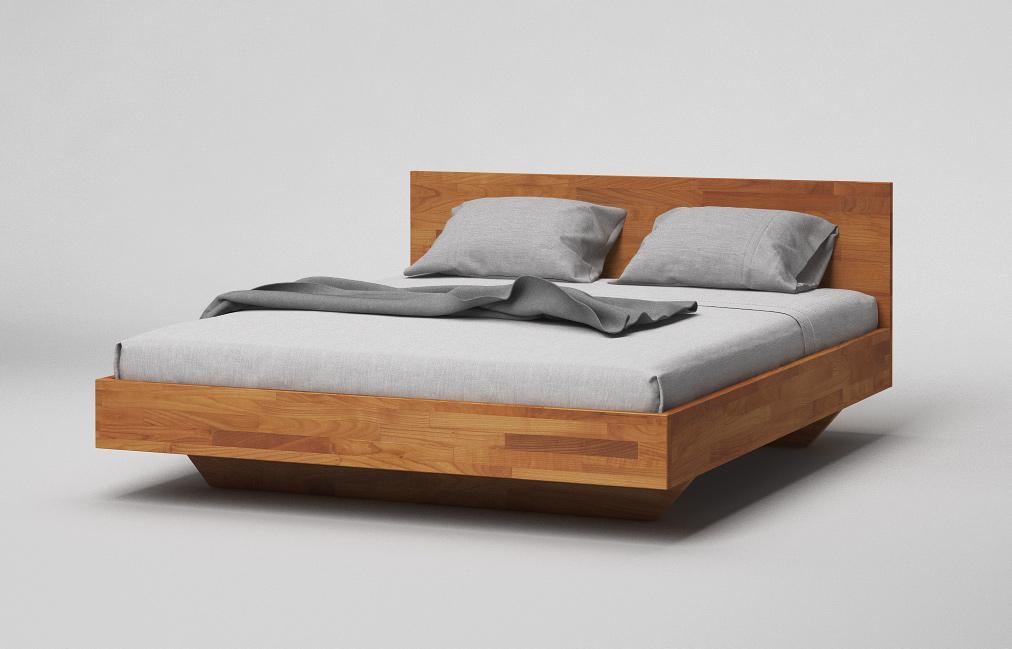 b34 bett kirschbaum massiv minimalistisches schwebebett mit kopfteil von frohraum. Black Bedroom Furniture Sets. Home Design Ideas