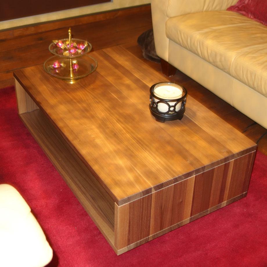 ct40 couchtisch kirschbaum massiv schwebend ma gefertigt von frohraum. Black Bedroom Furniture Sets. Home Design Ideas