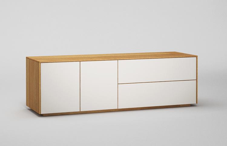 Lowboard-l503-farbglas-ral9010-a1-eiche-dgl