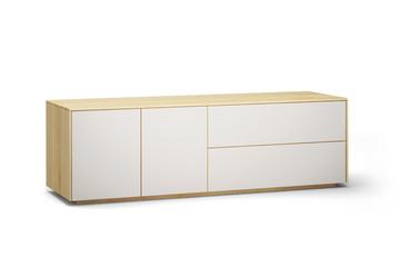 Lowboard-l503-farbglas-ral9010-a1w-ahorn-dgl