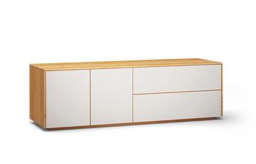 Lowboard-l503-farbglas-ral9010-a1w-kernbuche-dgl