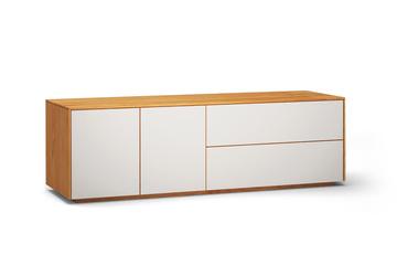 lowboard l503 farbglas RAL9010 a1w kirschbaum dgl