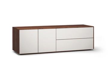 Lowboard-l503-farbglas-ral9010-a1w-nussbaum-dgl