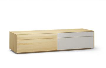Lowboard-l502-farbglas-ral9010-a1w-ahorn-dgl