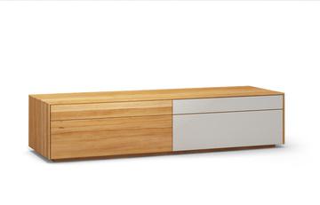 Lowboard-l502-farbglas-ral9010-a1w-kernbuche-dgl