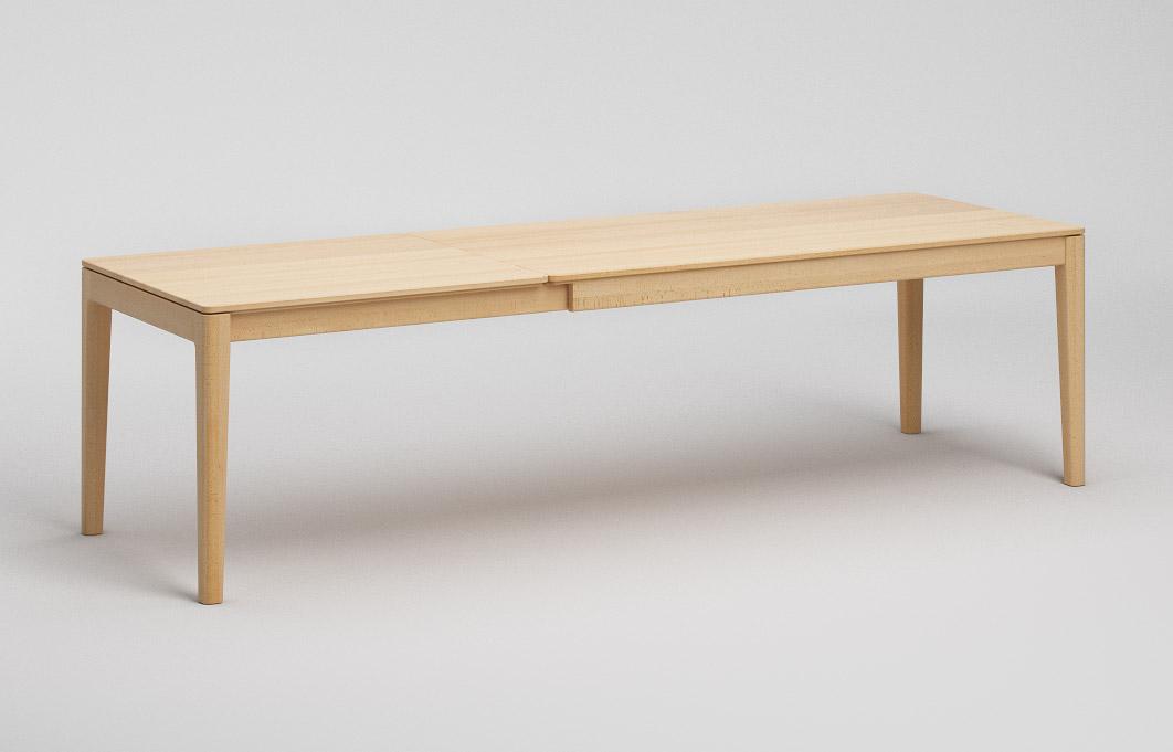 et134 ka ausziehtisch mit abgerundeten beinen und. Black Bedroom Furniture Sets. Home Design Ideas