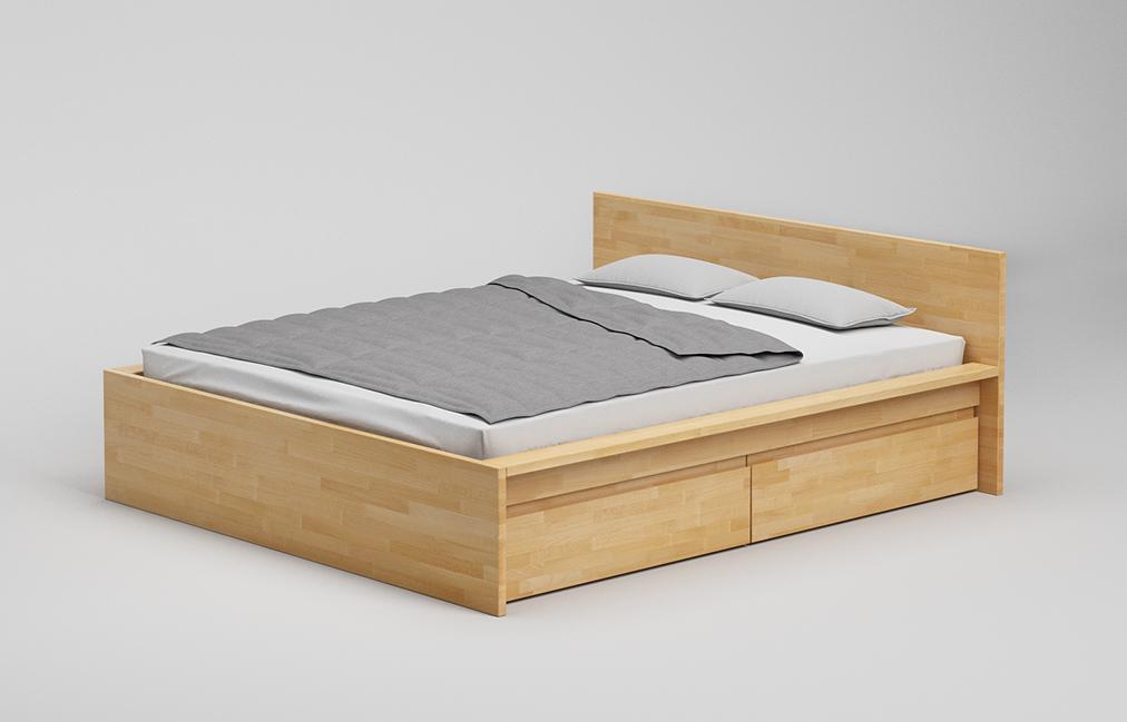 B31 Sk Bett Mit Schubkasten Und Kopfteil Aus Massivholz