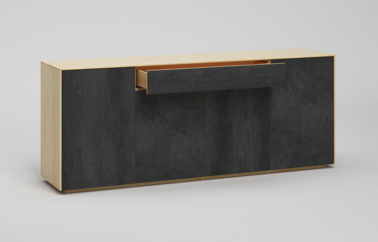 s503g k2 sideboard savoia antracite a4 ahorn dgl